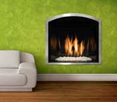 Mendota Modern Wide Grace Arch Fireplace