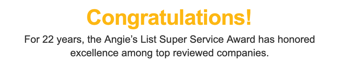 Congratulations to Tankless Concepts on Angie's List Super Service Award!